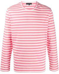 Comme des Garçons ストライプ ロングtシャツ - ピンク