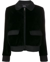 A.P.C. Wool Bomber Jacket - Black