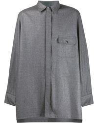 Fumito Ganryu オーバーサイズシャツ - グレー