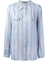 Giorgio Armani - ストライプ柄 シルクシャツ - Lyst