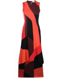 Alexander McQueen Geometric-print Dress - Red