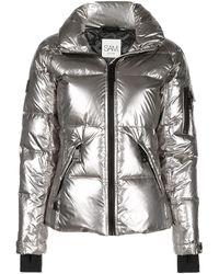 Sam. Freestyle High-neck Puffer Jacket - Metallic
