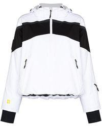 Sweaty Betty Panelled Hooded Padded Jacket - White