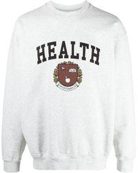 Sporty & Rich Health Print Sweatshirt - Grey