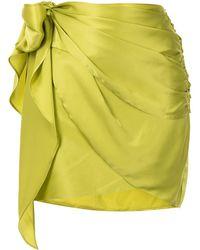 Michelle Mason ミニラップスカート - グリーン