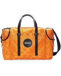 Gucci Off The Grid GG Duffle Bag - Orange