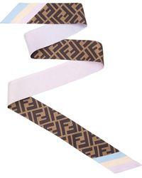 Fendi Two-sided Ff Motif Wrappy - Multicolour