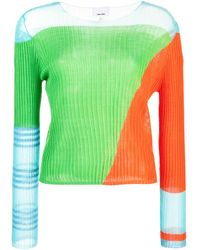 i-am-chen Panelled Top - Green
