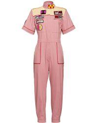 Miu Miu Rally Patch Jumpsuit - Pink