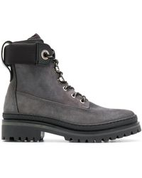 Tommy Hilfiger Stitched Panel Boots - Gray