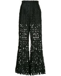 Self-Portrait - High Waisted Cut Out Trousers - Lyst