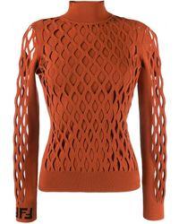Fendi メッシュスタイル セーター - マルチカラー