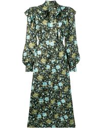 Golden Goose フローラル ドレス - ブラック