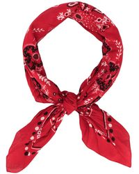 DSquared² Printed Bandana Neck Scarf - Red