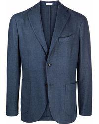 Boglioli テーラード シングルジャケット - ブルー