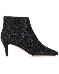 P.A.R.O.S.H. All-over-glitter Ankle Boots - Black