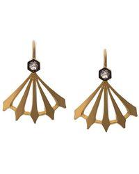 Cathy Waterman Big Top Earrings - Metallic