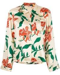 Morgan Lane Ruthie Floral Print Top - White