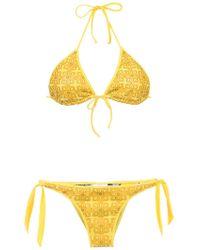 Amir Slama - Textured Triangle Top Bikini Set - Lyst