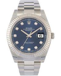 Rolex Montre Oyster Perpetual Datejust 41 mm (non portée) - Bleu