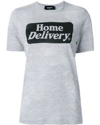 DSquared² Home Delivery T-shirt - Серый