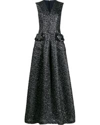 Talbot Runhof Momo ドレス - ブルー