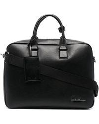 Calvin Klein Logo Print Laptop Bag - Black