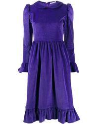 BATSHEVA Peter Pan Collar Knee-length Dress - Purple