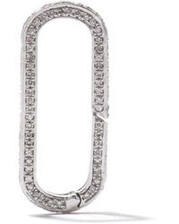 AS29 ダイヤモンド カラビナ 18kホワイトゴールド - マルチカラー