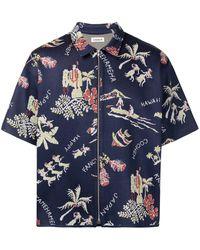Coohem Aloha Jacquard Shirt - Blue