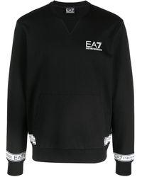EA7 - ロゴストライプ スウェットシャツ - Lyst