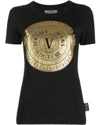 Versace Jeans Couture Футболка С Нашивкой-логотипом - Черный