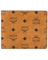 MCM 二つ折り財布 - ブラウン