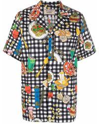 ALESSANDRO ENRIQUEZ Camisa con comida estampada - Negro