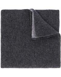 Dell'Oglio Cable Knit Scarf - Gray