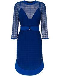 Gloria Coelho Tulle belted dress - Bleu