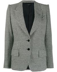 Tom Ford Houndstooth Knitted Blazer - Black