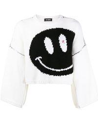 Raf Simons Smiley Oversized Sweater - Weiß
