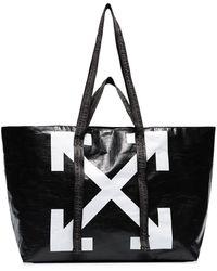 Off-White c/o Virgil Abloh Commercial Arrow Logo Tote - Black