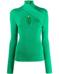 MSGM Crossover High-neck Top - Green