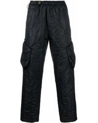WOOYOUNGMI Pantalones de chándal tipo cargo acolchados - Negro