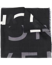 Givenchy Schal mit unterbrochenem Logo - Schwarz