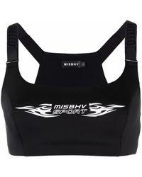 MISBHV ロゴ スポーツブラ - ブラック