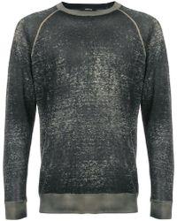Avant Toi - Sweatshirt in Washed-Optik - Lyst
