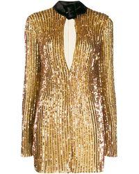 The Attico Mini-jurk Met Pailletten - Metallic