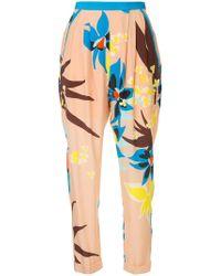 Delpozo - Floral Print Trousers - Lyst