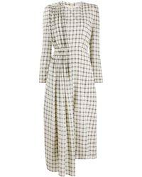 Givenchy Клетчатое Платье Асимметричного Кроя - Многоцветный