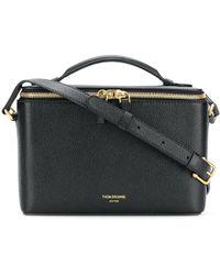 Thom Browne Pebbled Leather Camera Bucket Bag - Black