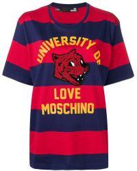 Love Moschino - Mascot Striped T-shirt - Lyst
