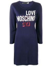 Love Moschino - Love Ski Sweater-dress - Lyst